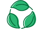 A green leaves icon