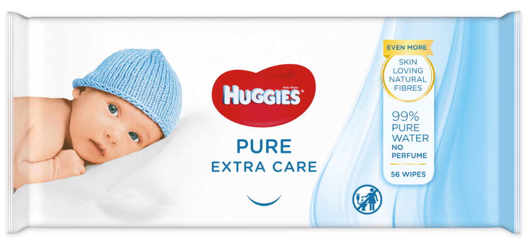 Huggies® Pure Extra Care wipes